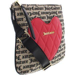 Juicy Couture Heartbreaker Canvas Logo Handbag
